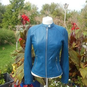 NWT  Small Express Minus the Leather Blue Jacket